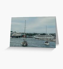 Sailing Ships and Ocean Liners Greeting Card