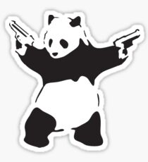 Panda the Gunslinger Sticker