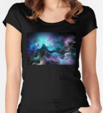 Psychedelic Nebula Women's Fitted Scoop T-Shirt
