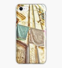 Towels Hanging  In Corfu Old Town  iPhone Case/Skin