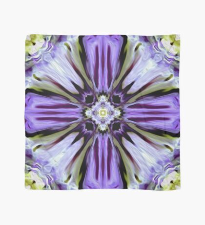 Purple Floral Paint Scarf