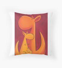 Splatter Mob (Kangaroos) Throw Pillow