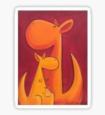 Splatter Mob (Kangaroos) Sticker