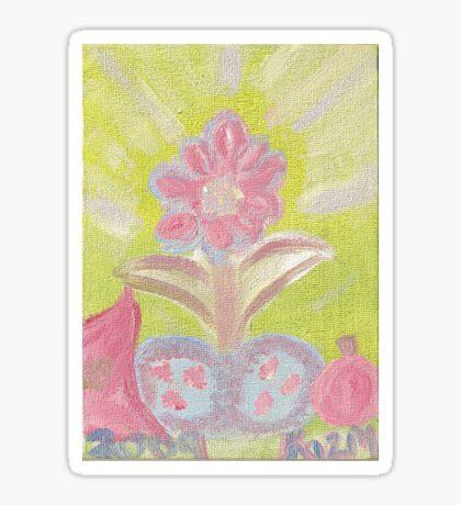 Painted Pastel Plant Sticker