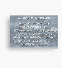 How Impotent Are The Efforts - Haggard Canvas Print