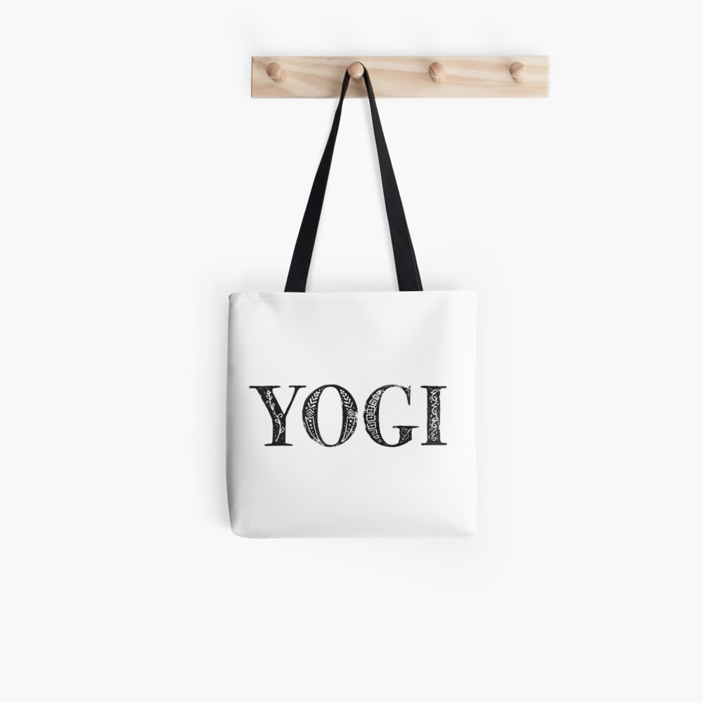 Serif Stamp Type - Yogi Tote Bag
