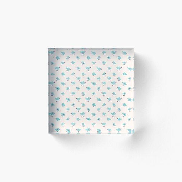 Tiny Birds Repeat Pattern Acrylic Block