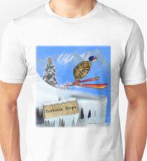Skiing Tortoise Slope Unisex T-Shirt