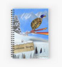 Skiing Tortoise Slope Spiral Notebook