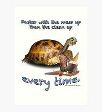 Tortoise with Ice Cream Cone Art Print