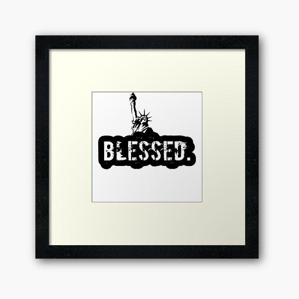 the Blessed USA Framed Art Print