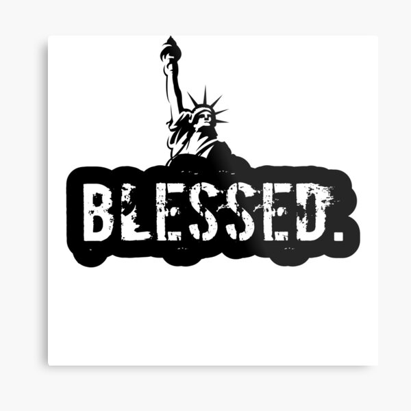 the Blessed USA Metal Print