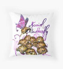 Tortoise Butterflies - Social Butterfly Throw Pillow