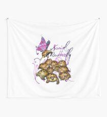 Tortoise Butterflies - Social Butterfly Wall Tapestry