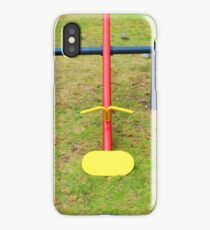 Yellow Teeter Totter Seats iPhone Case/Skin