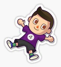 Purple Villager Sticker