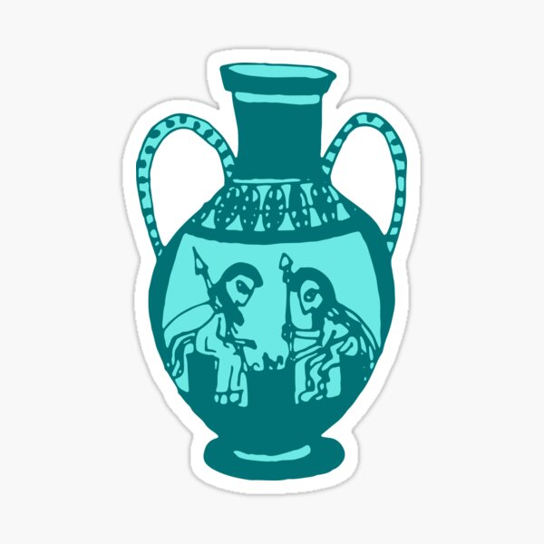 Greek pottery IV: the game Sticker