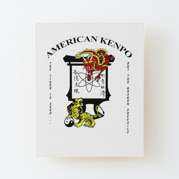 American Kenpo - The Tiger is seen, but the Dragon prevails. Wood Mounted Print