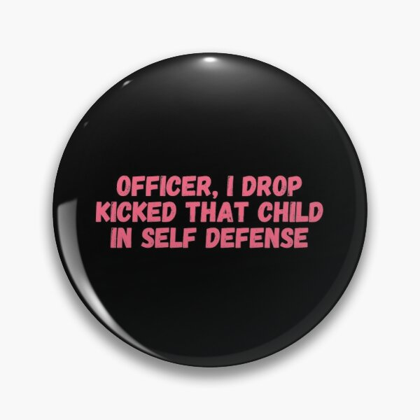 Officer I drop kicked that child In self defense, technoblade funny quote Pin
