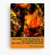 The First Rule of Ecology Canvas Print