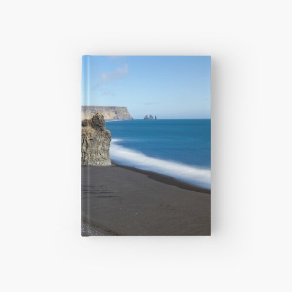 Black Beach at Vik Hardcover Journal