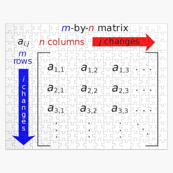 In mathematics, a matrix is a rectangle of numbers, arranged in rows and columns Jigsaw Puzzle
