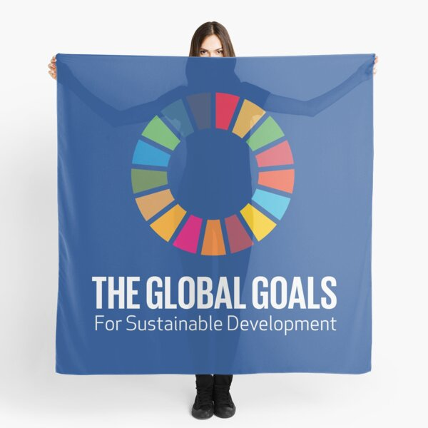 UN SDGs Logo   The GlobalGoals for Sustainable Development Scarf