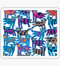 Colorful Abstract Coyote Art Duvet Cover Sticker