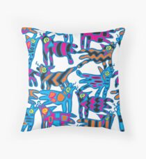 Colorful Abstract Coyote Art Duvet Cover Throw Pillow