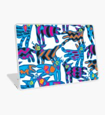 Colorful Abstract Coyote Art Duvet Cover Laptop Skin
