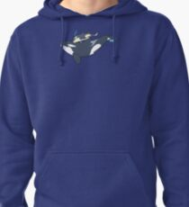 Orca mother and calf Pullover Hoodie