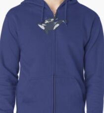 Orca mother and calf Zipped Hoodie