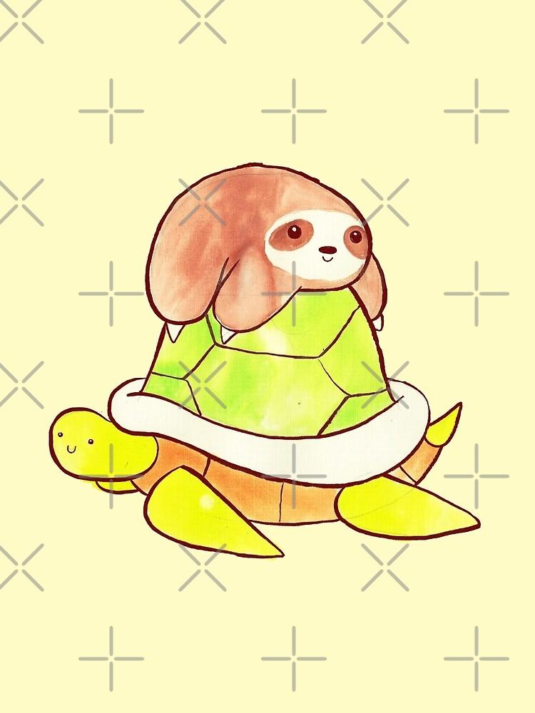 Little Sloth and Big Turtle by SaradaBoru
