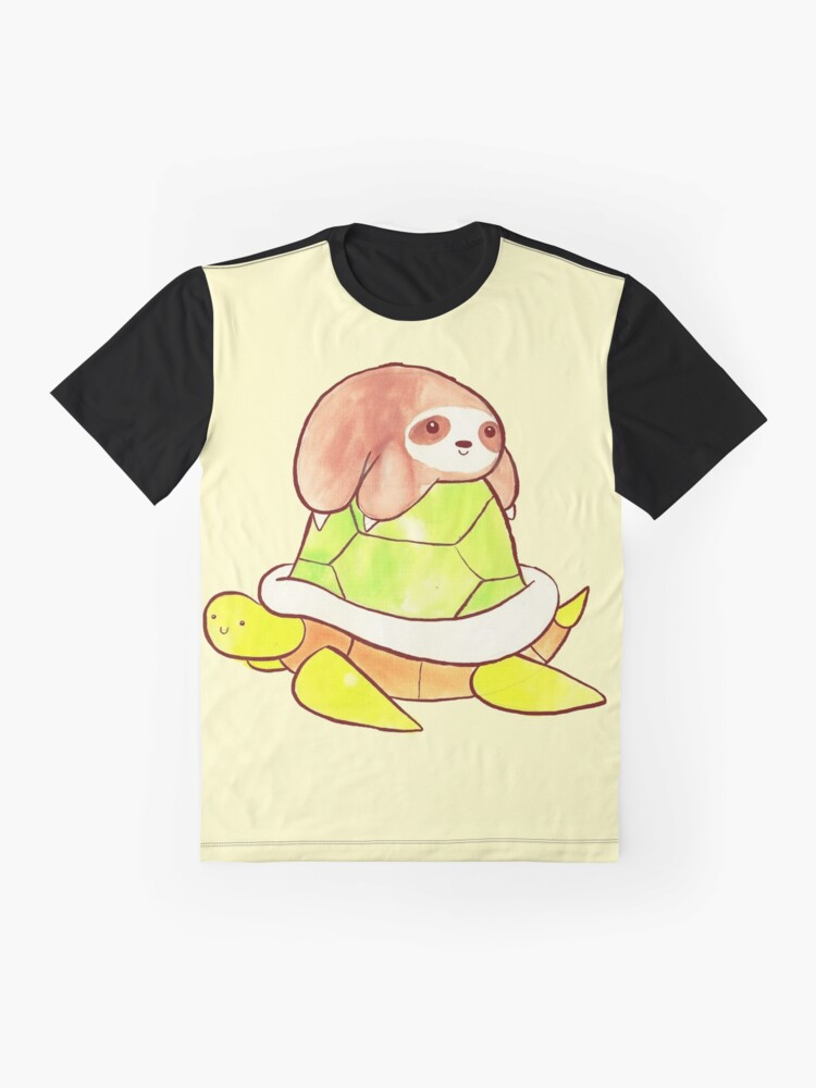 Alternate view of Little Sloth and Big Turtle Graphic T-Shirt