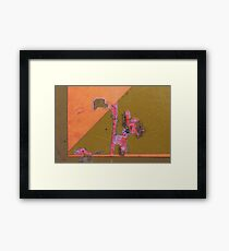 'pink pussy' Presents 'no.2' Framed Print