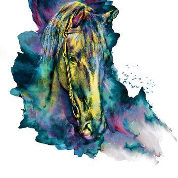 Pferd angekettet Schönheit von rizapeker