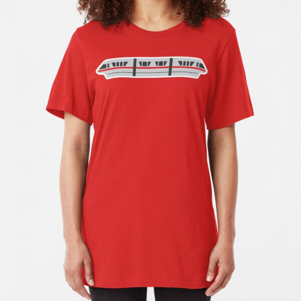 MONORAIL - RED Slim Fit T-Shirt