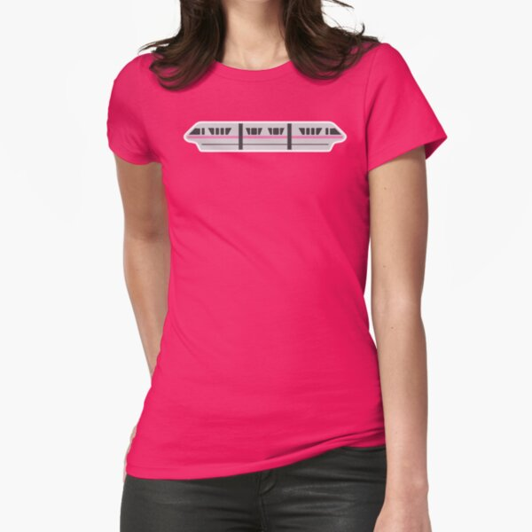 MONORAIL - PINK Fitted T-Shirt