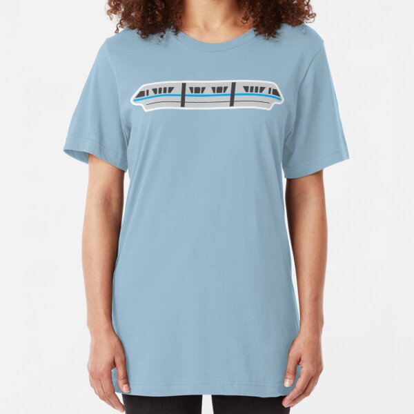 MONORAIL - TEAL Slim Fit T-Shirt