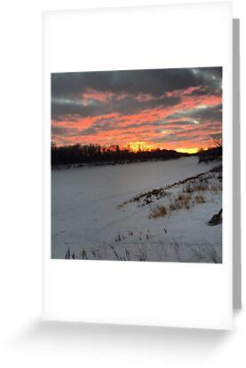 Winter Sunset by susanprystupa