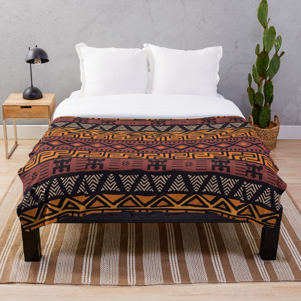 African Tribal Pattern Throw Blanket