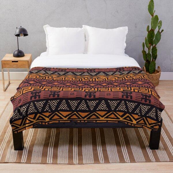 African Tribal Pattern Throw Blanket
