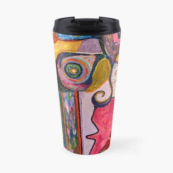 "Colorful Abstract Painting, ""Seer"" Travel Mug"