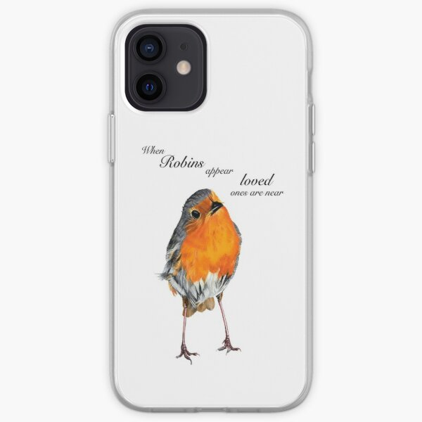 Robin - Robin Redbreast - Red Robin -Robins appear when loved ones are near iPhone Soft Case