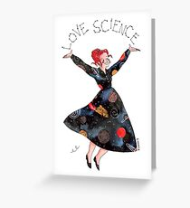 Miss Frizzle loves science Greeting Card