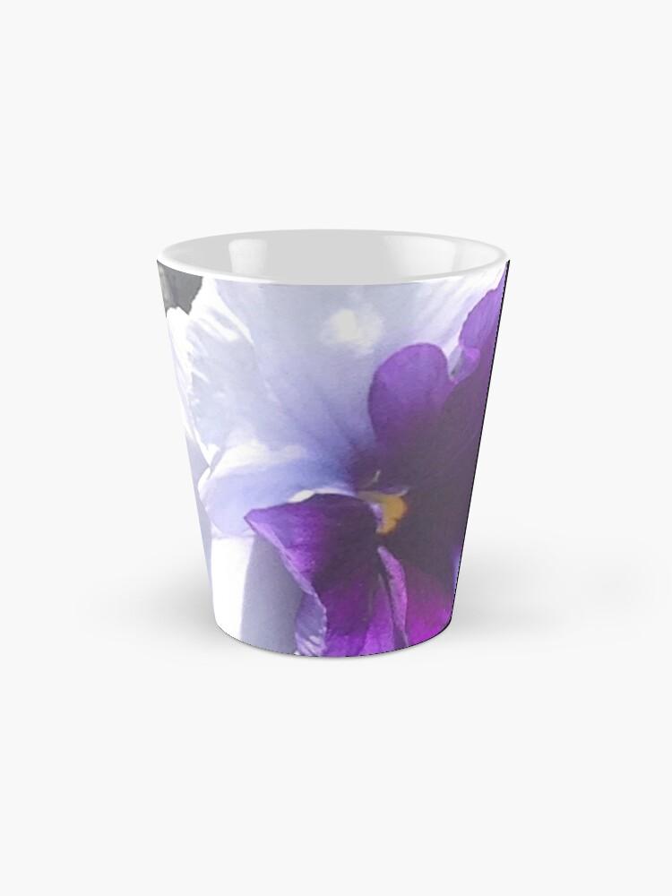 Alternative Ansicht von Lila weißer Stiefmütterchen Tasse