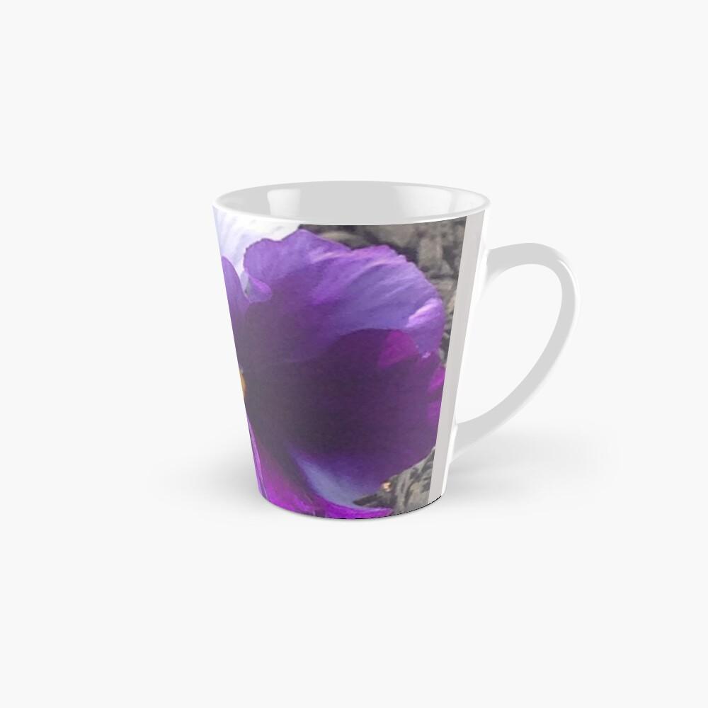 Lila weißer Stiefmütterchen Tasse