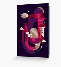 Retrofuturism Greeting Card