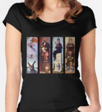 Haunted mansion all Characthers Women's Fitted Scoop T-Shirt