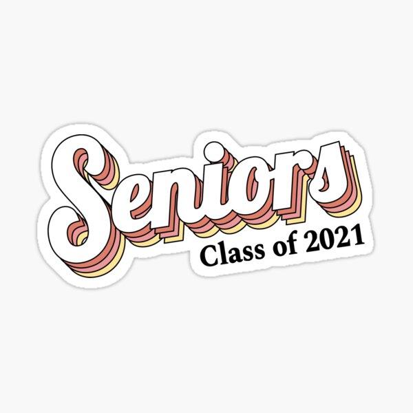Seniors Class of 2021 Graduation Retro Sticker Sticker